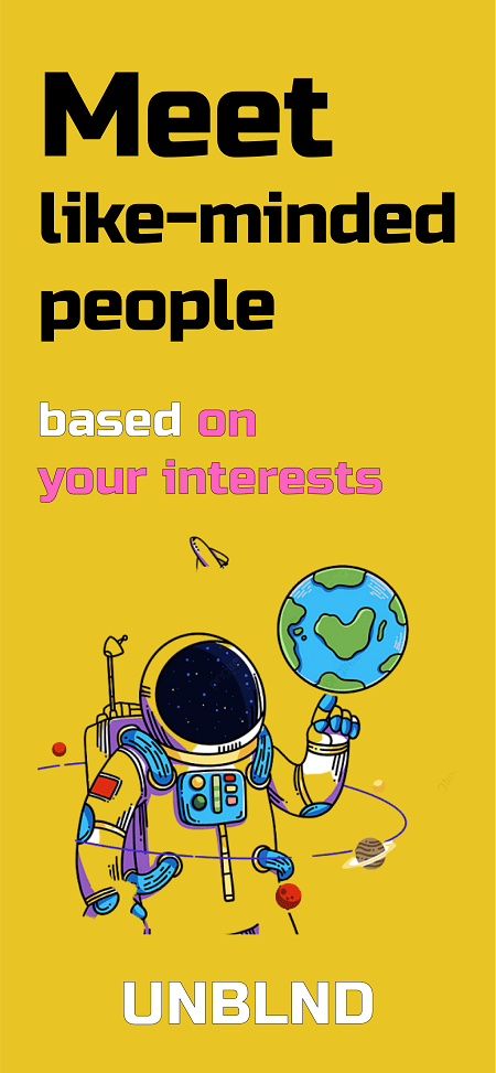 Make new friends based on interests!
