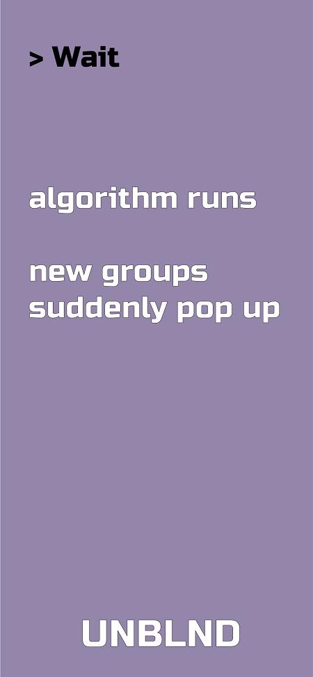 Wait for our algorithm.